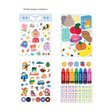 4 Vellum paper sticker - ICONIC Diary deco sticker 9 sheets in one set ver11