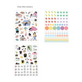 3 Clear film sticker - ICONIC Diary deco sticker 9 sheets in one set ver11