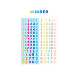 Number sticker - ICONIC Jelly Alphabet and Number glitter sticker set