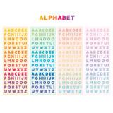 Alphabet sticker - ICONIC Jelly Alphabet and Number glitter sticker set