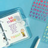 Usage example - ICONIC Jelly Alphabet and Number glitter sticker set