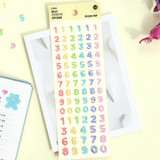 ICONIC Jelly Alphabet and Number glitter sticker set