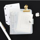 White - 2NUL Glitter 3 ring Instax mini slip in pocket photo album