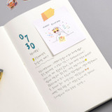 Usage example - Byfulldesign Making memory medium blank notebook ver2
