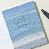 Usage example - Meri Film Gangneung beach memo writing notepad