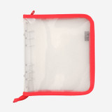 2NUL Cherry pick wide A6 6-ring PVC zipper binder