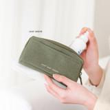Leaf Green - Byfulldesign Oxford multi pocket long zipper pouch
