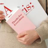 Pink - Indigo 365 days dateless gratitude daily journal