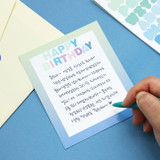 Usage example - Indigo Color and Gradation Alphabet sticker set