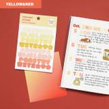 Alphabet yellow red - Indigo Color and Gradation Alphabet sticker set