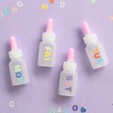 Usage example - Indigo Color and Gradation Alphabet sticker set