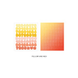 Number Yellow Red - Indigo Color and Gradation Number sticker set