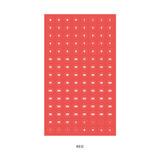 Red - Indigo 31 days paper circle sticker
