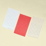 Indigo 31 days paper circle sticker