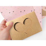Heart envelopes - 2young Heart point letter and envelope set