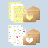 Detail of 2young Heart point letter and envelope set