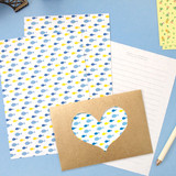 2young Heart point letter and envelope set