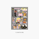 13 Match girl - Project fairy tale my juicy bear removable sticker 9-16