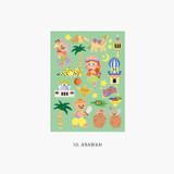 10 Arabian - Project fairy tale my juicy bear removable sticker 9-16