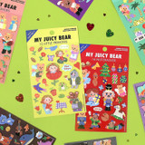 Project fairy tale my juicy bear removable sticker 9-16