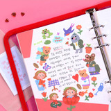 Usage example - Project fairy tale my juicy bear removable sticker 9-16