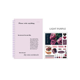 Light Purple - Ardium My own A5 plastic ring lined notebook with a sticker
