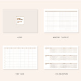 Planner sections - Ardium Slow and steady 4 months dateless study planner