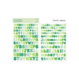 Pastel Green - Bookfriends Colorful Alphabet translucent sticker set