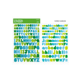 Vivid Green - Bookfriends Colorful Alphabet translucent sticker set