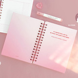Pink - ICONIC Heyday 6 months hardcover dateless study planner