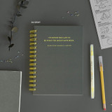 Gray - ICONIC Heyday 6 months hardcover dateless study planner