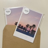 Package - Meri Film Jeju travel postcard 4 sheets set
