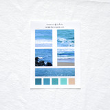 Meri Film Ocean color chips translucent sticker set