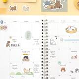 05 Cat - Indigo Daily life removable sticker seal 1-10