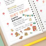 06 PoPo day - Indigo Daily life removable sticker seal 1-10