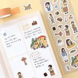 03 Cafe - Indigo Daily life removable sticker seal 1-10