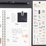 08 Korean - Indigo Daily life removable sticker seal 1-10