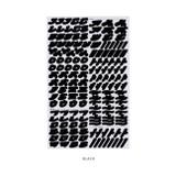 Black - After The Rain Cinematic Korean Alphabet removable sticker