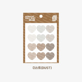 Dust -  Wanna This Heart check large deco sticker set of 3 sheets