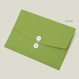 Olive - PAPERIAN Recycled paper A4 document envelope file folder