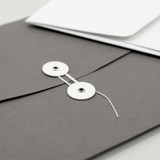 Button string closure - PAPERIAN Recycled paper A4 document envelope file folder