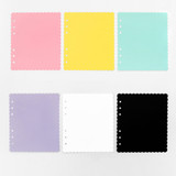 Color - 2NUL Biscuit wide A6 6 ring blank note paper refill set