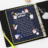 Usage example - 2NUL Starry wide A6 6 ring blank note paper refill set