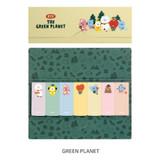 Green planet - BT21 Sticky index bookmark set
