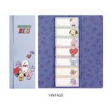 Vintage - BT21 Sticky index bookmark set