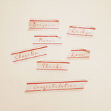 Detail of Universal Condition Message vintage lettering masking tape