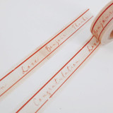 Universal Condition Message vintage lettering masking tape