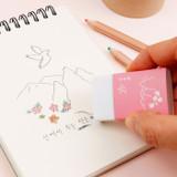 Usage example - Bookfriends Korean literature white pencil eraser