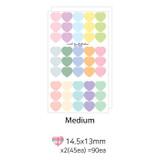 ICIEL Newtro medium check heart paper sticker set