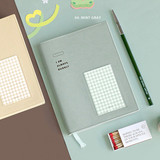 Mint Gray - ICONIC Bubbly dateless weekly diary planner